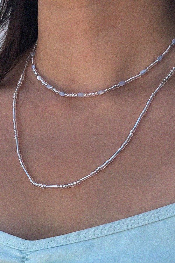 Blue mother-of-pearl Necklace